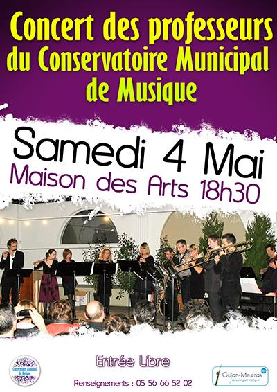 Concert des professeurs du Conservatoire Municipal de Musique