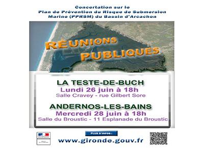 Réunion publique sur le  Plan de Prévention du Risque de Submersion Marine du Bassin d'Arcachon