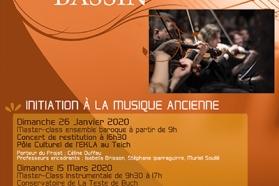 Affiche Opus Bassin du 26 janvier et 15 mars