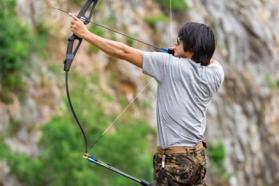 Image tir à l'arc run archery