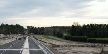 Image ouverture du pont de l'échangeur de La Hume